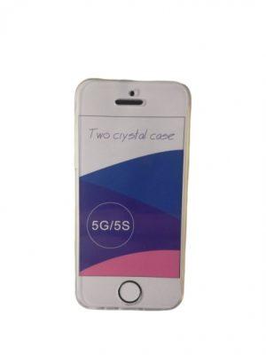 Двоен силиконов калъф за iPhone 5 5S SE