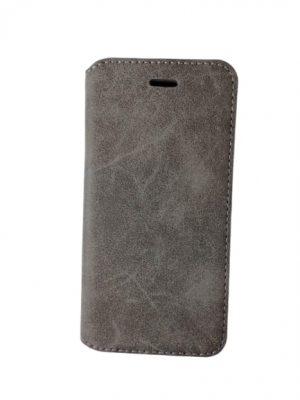 Калъф тип тефтер за iPhone 6/6S сиво-кремав