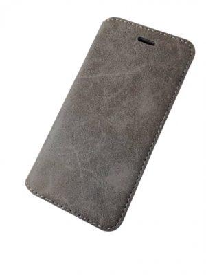Калъф тип тефтер за iPhone 6/6S сиво-кремав 2