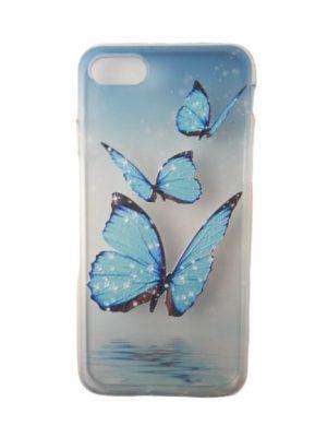 Силиконов калъф за iPhone 6/6S с пеперуди