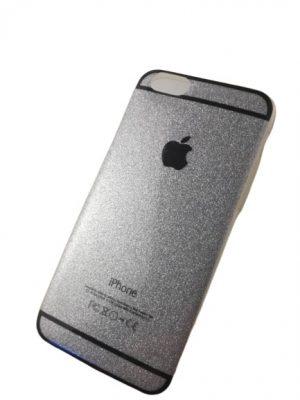 Силиконов калъф за iPhone 6/6S сребрист 2