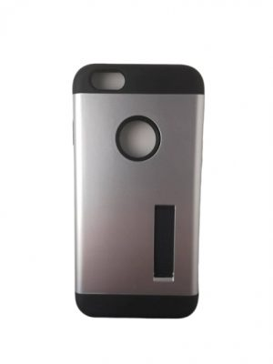 Твърд гръб за iPhone 6/6S сребърно-черен