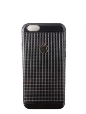Силиконов калъф за iPhone 6/6S черно-сребрист