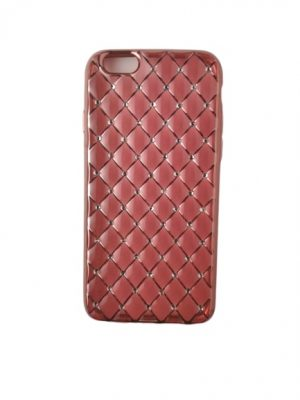 Калъф за iPhone 6/6S тъмно розов, плътен силикон