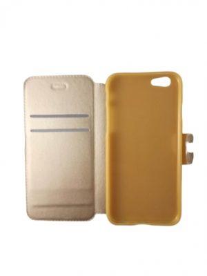 Калъф тип тефтер за iPhone 6/6S златист 3