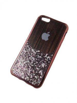 Силиконов калъф за iPhone 6/6S медно-розов блестящ 2