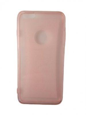 Силиконов калъф за iPhone 6/6S Plus прозрачен розов