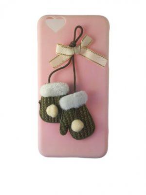 Калъф за iPhone 6/6S Plus розов с ръкавички