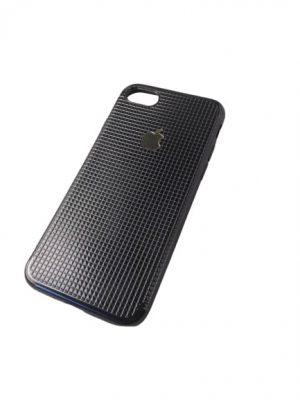 Силиконов калъф за iPhone 7/8 черно-сребрист 2
