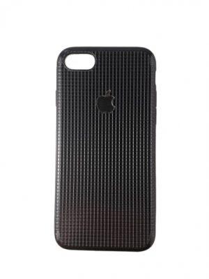 Силиконов калъф за iPhone 7/8 черно-сребрист