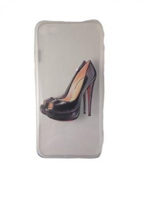 Силиконов калъф за iPhone 7/8 с обувка на ток