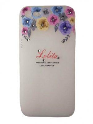 Калъф за iPhone 7/8 с цветя и камъчета