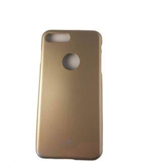 Твърд силиконов калъф за iPhone 7/8 Plus златист