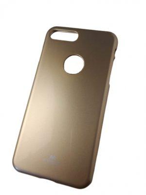 Твърд силиконов калъф за iPhone 7/8 Plus златист 2