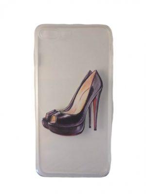 Силиконов калъф за iPhone 7/8 Plus с обувка на ток