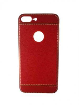Калъф за iPhone 7/8 Plus изкуствена кожа червен