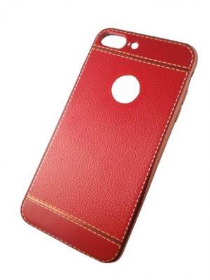 Калъф за iPhone 7/8 Plus изкуствена кожа червен 2