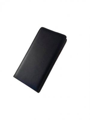 Кожен калъф тип тефтер за Lenovo A6010/А6000 черен 2