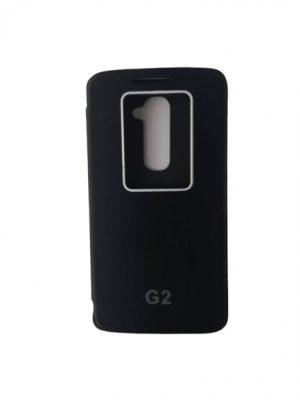 Твърд калъф тип тефтер за LG G2 черен