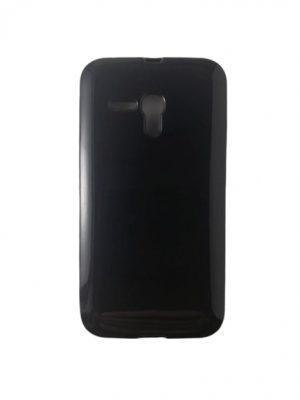 Силиконов калъф за Alcatel One Touch Pop D5 (OT-5038D) черен, гланц