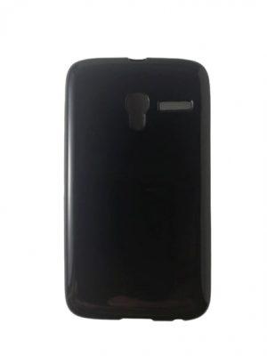Силиконов калъф за Alcatel Pixi 3 (3.5) черен, гланц