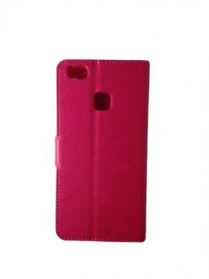 Кожен калъф тип тефтер за Huawei P9 Lite розов 3