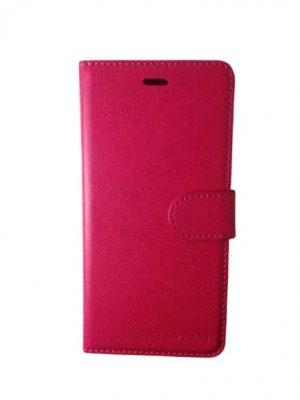 Кожен калъф тип тефтер за Huawei P9 Lite розов