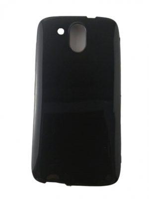 Силиконов калъф за HTC Desire 526G черен, гланц
