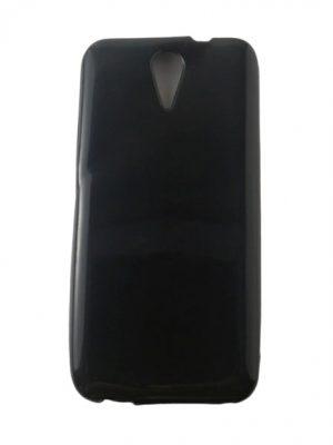 Калъф за HTC Desire 620 силиконов черен гланц