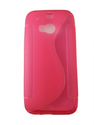 Силиконов калъф за HTC One (M8) / HTC ONE 2 розов