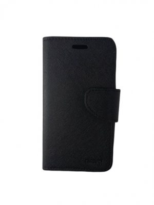 Кожен калъф тип тефтер за Huawei Y625 черен