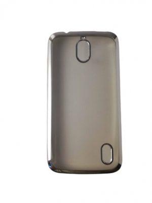 Силиконов калъф за Huawei Y625 прозрачен, сребрист кант