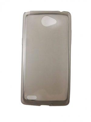 Силиконов калъф за LG Bello II / 2 сив прозрачен