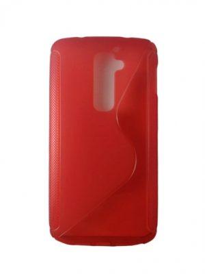 Силиконов калъф за LG G2 червен