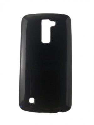 Силиконов калъф за LG K10 черен, гланц