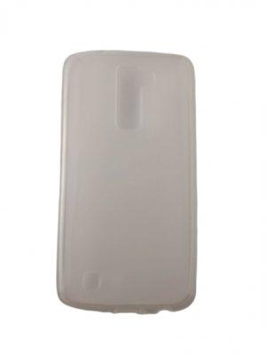 Силиконов калъф за LG K10 прозрачен бял