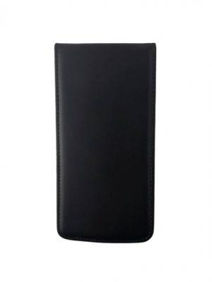 Кожен калъф тип тефтер за LG K8 черен