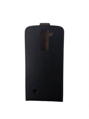 Кожен калъф тип тефтер за LG K8 черен 3