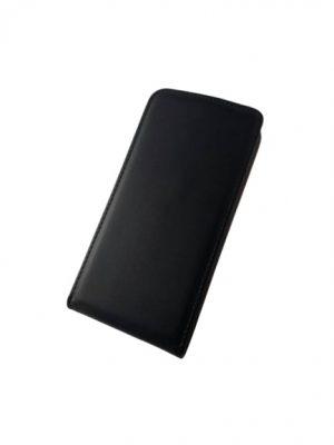 Кожен калъф тип тефтер за LG K8 черен 2