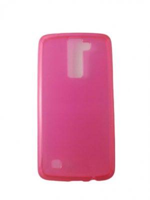 Силиконов калъф за LG K8 розов