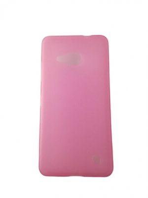 Силиконов калъф за Microsoft Lumia 550 розов