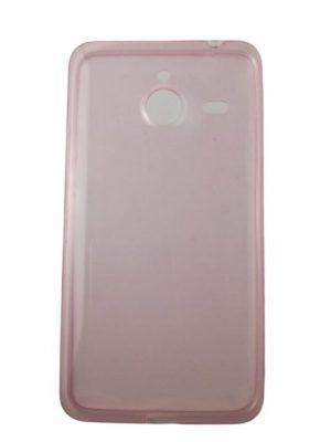 Силиконов калъф за Microsoft Lumia 640 XL светло розов, прозрачен