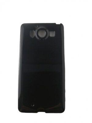 Силиконов калъф за Microsoft Lumia 950 черен гланц