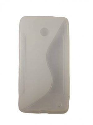 Силиконов калъф за Nokia Lumia 630 бял прозрачен