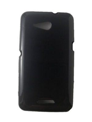 Силиконов калъф за Sony Xperia E4g черен, гланц