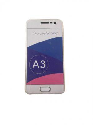 Двоен силиконов калъф за Samsung Galaxy A3 прозрачен