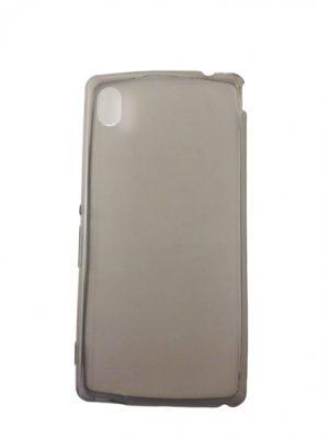 Силиконов калъф за Sony Xperia M4 Aqua сив прозрачен