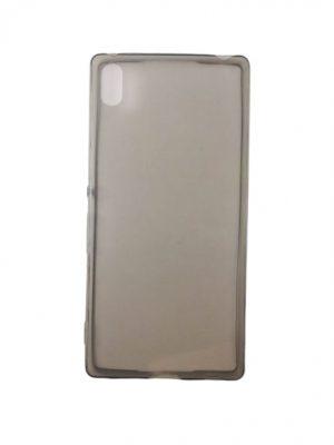 Силиконов калъф за Sony Xperia Z4 сив прозрачен