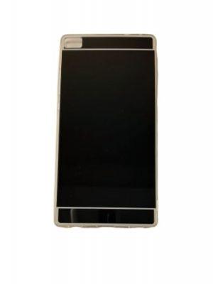 Силиконов калъф за Huawei P8 огледален черен