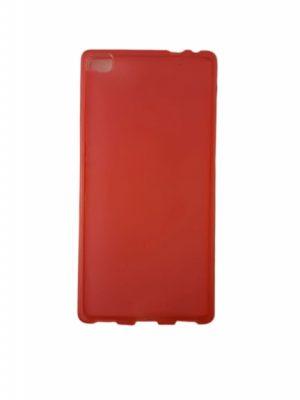 Силиконов калъф за Huawei P8 червен